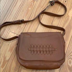 Lucky Brand Brown Leather Crossbody Bag